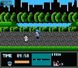 In-game screen of the game Street Cop on Nintendo NES