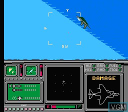 In-game screen of the game Ultimate Air Combat on Nintendo NES