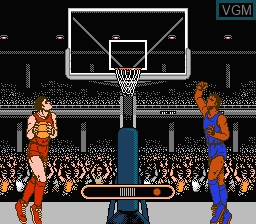 In-game screen of the game Ultimate Basketball on Nintendo NES