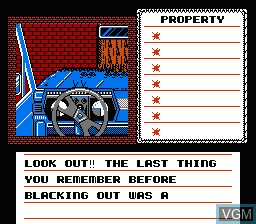 In-game screen of the game Uninvited on Nintendo NES