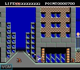 In-game screen of the game Valis - The Fantastic Soldier on Nintendo NES
