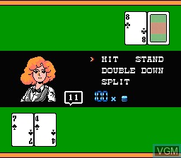 In-game screen of the game Vegas Connection - Casino Kara Ai wo Komete on Nintendo NES