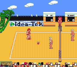 In-game screen of the game Venice Beach Volleyball on Nintendo NES