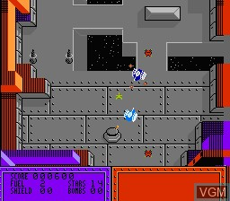 In-game screen of the game Vindicators on Nintendo NES