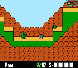 In-game screen of the game Wagyan Land on Nintendo NES