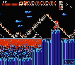 In-game screen of the game Wai Wai World on Nintendo NES
