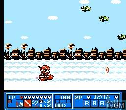 In-game screen of the game Wai Wai World 2 - SOS!! Paseri Jou on Nintendo NES