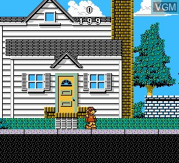 In-game screen of the game Wally Bear & the No Gang on Nintendo NES
