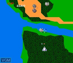 In-game screen of the game Xevious - The Avenger on Nintendo NES