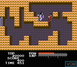 In-game screen of the game Youkai Kurabu on Nintendo NES