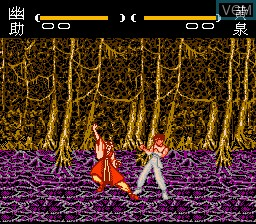 In-game screen of the game Yuu Yuu Hakusho Final - Makai Saikyou Retsuden on Nintendo NES