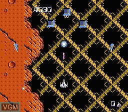 In-game screen of the game Zanac on Nintendo NES
