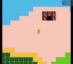 In-game screen of the game Zelda II - The Adventure of Link on Nintendo NES