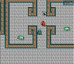 In-game screen of the game Zoids - Chuuou Tairiku no Tatakai on Nintendo NES