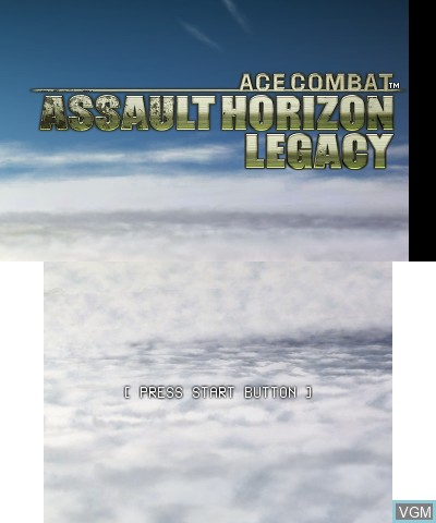 Title screen of the game Ace Combat - Assault Horizon Legacy on Nintendo 3DS