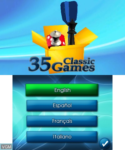 Title screen of the game 35 Junior Games on Nintendo 3DS