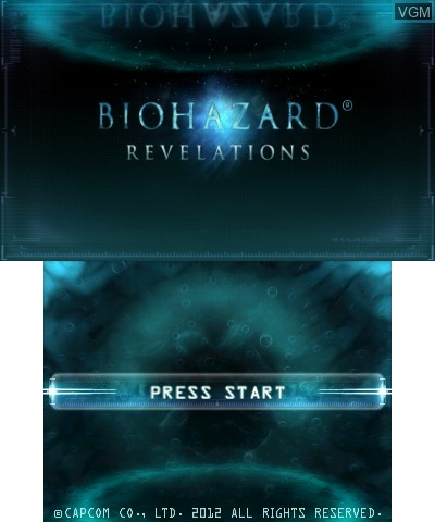 Title screen of the game BioHazard - Revelations on Nintendo 3DS
