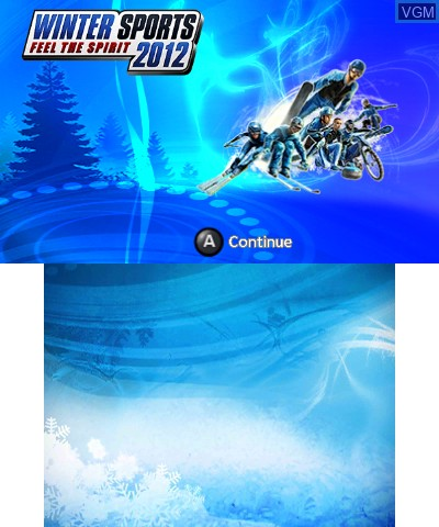 Title screen of the game Winter Sports 2012 - Feel the Spirit on Nintendo 3DS