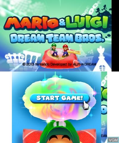 Mario Luigi Dream Team Bros For Nintendo 3ds The Video