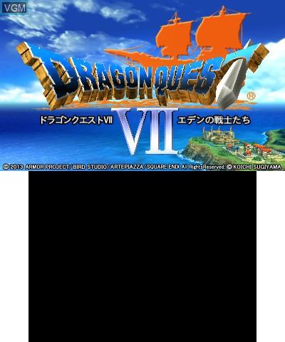 Title screen of the game Dragon Quest VII - Eden no Senshitachi on Nintendo 3DS