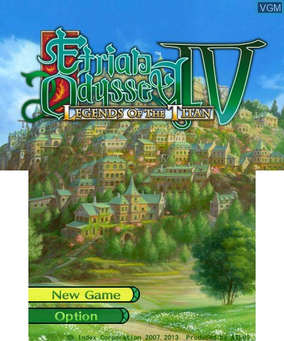 Title screen of the game Etrian Odyssey IV - Legends of the Titan on Nintendo 3DS