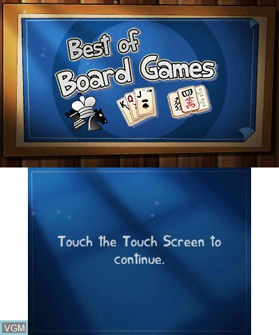 Title screen of the game Best of Board Games on Nintendo 3DS
