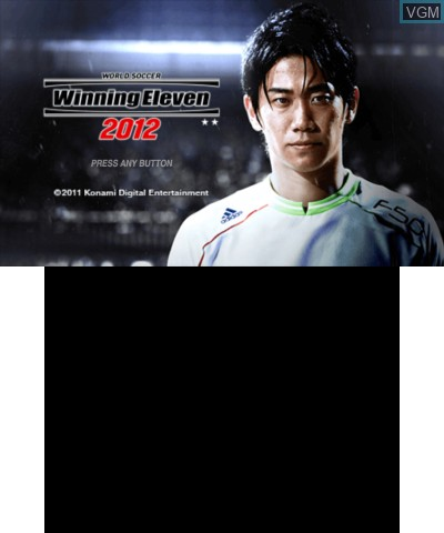 Title screen of the game World Soccer Winning Eleven 2012 on Nintendo 3DS