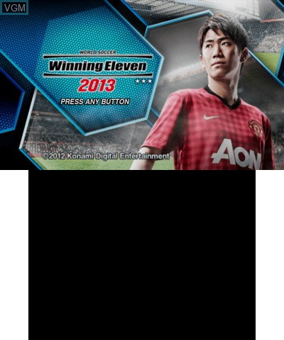 Title screen of the game World Soccer Winning Eleven 2013 on Nintendo 3DS