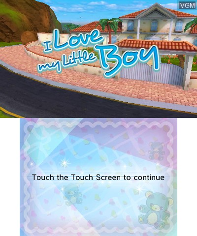 Title screen of the game I Love My Little Boy on Nintendo 3DS
