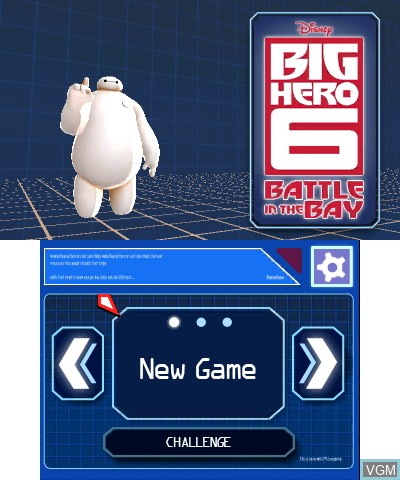 Title screen of the game Big Hero 6 - Battle In The Bay on Nintendo 3DS
