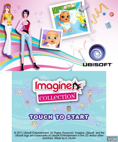 Title screen of the game Imagine Collection on Nintendo 3DS