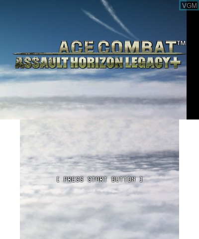 Title screen of the game Ace Combat - Assault Horizon Legacy+ on Nintendo 3DS