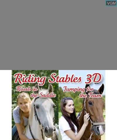 Title screen of the game 2 in 1 - Horses 3D Vol.2 - Rivals in the Saddle and Jumping for the Team 3D on Nintendo 3DS
