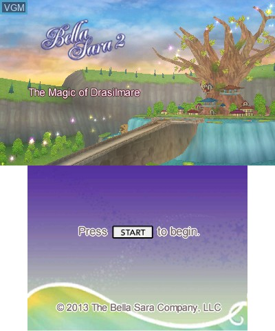 Title screen of the game Bella Sara 2 on Nintendo 3DS