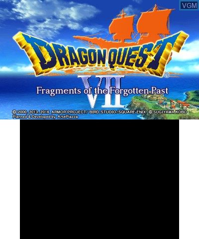 Title screen of the game Dragon Quest VII - Fragments of the Forgotten Past on Nintendo 3DS