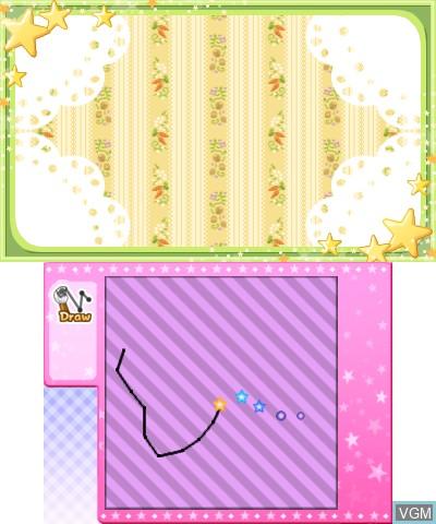 Menu screen of the game Bikkuri! Tobidasu! Mahou no Pen on Nintendo 3DS