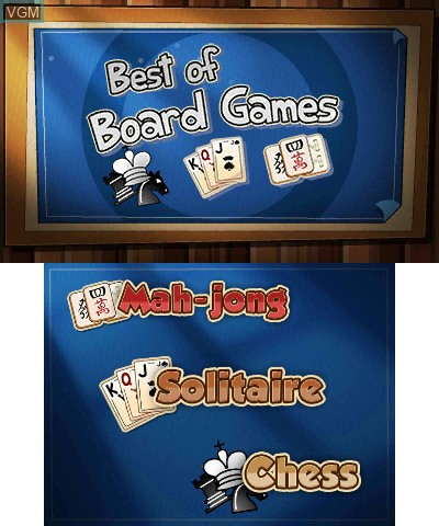 Menu screen of the game Best of Board Games on Nintendo 3DS