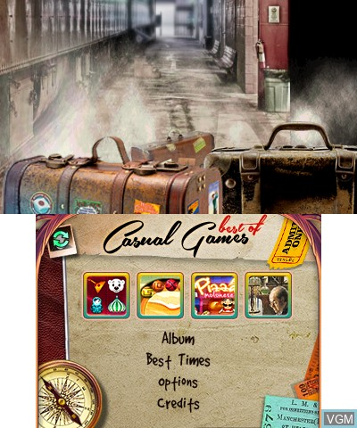 Menu screen of the game Best of Casual Games on Nintendo 3DS