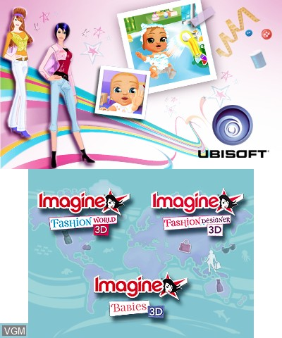 Menu screen of the game Imagine Collection on Nintendo 3DS