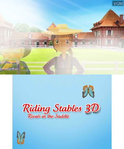 Menu screen of the game 2 in 1 - Horses 3D Vol.2 - Rivals in the Saddle and Jumping for the Team 3D on Nintendo 3DS
