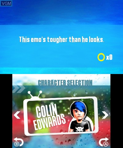 Menu screen of the game Wipeout 2 on Nintendo 3DS