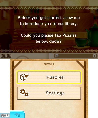 Menu screen of the game Picross 3D - Round 2 on Nintendo 3DS