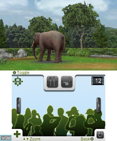 In-game screen of the game Zoo Resort 3D on Nintendo 3DS