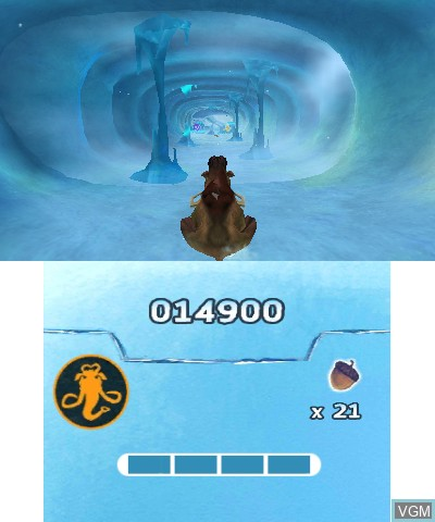 In-game screen of the game Ice Age 4 - Continental Drift - Arctic Games on Nintendo 3DS