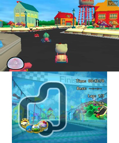 97a4b0e89 In-game screen of the game Hello Kitty and Sanrio Friends 3D Racing on  Nintendo