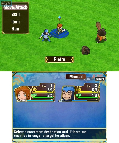 In-game screen of the game Return to PopoloCrois - A Story of Seasons Fairytale on Nintendo 3DS