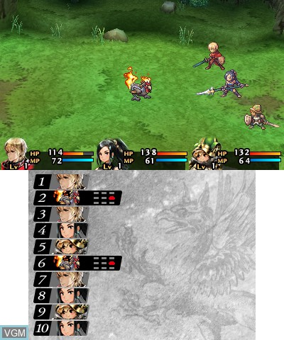 In-game screen of the game Radiant Historia - Perfect Chronology on Nintendo 3DS
