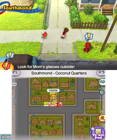 In-game screen of the game Yo-kai Watch 3 on Nintendo 3DS