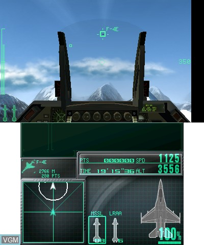 In-game screen of the game Ace Combat - Assault Horizon Legacy on Nintendo 3DS