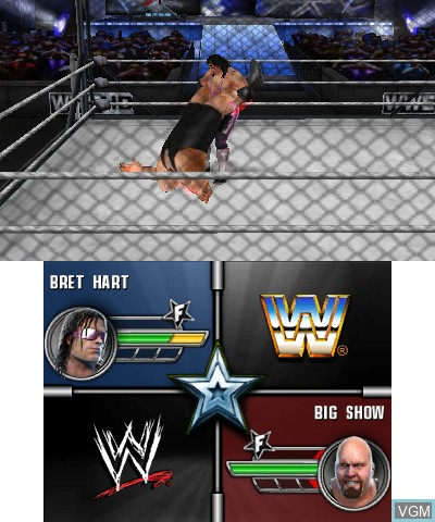 In-game screen of the game WWE All Stars on Nintendo 3DS